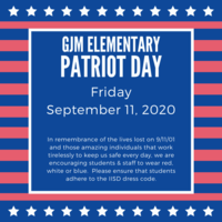 GJM Elementary Patriot Day 9-11-20