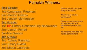 GJM Library Pumpkin Winners 19-20
