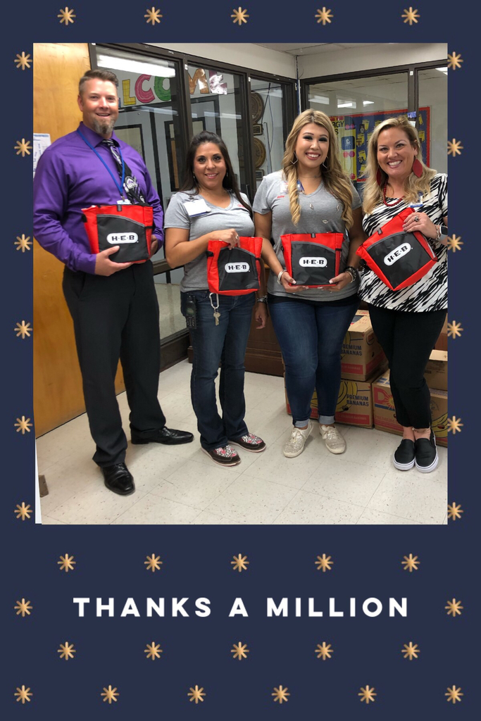 Thank you to Ingleside H-E-B  for the goody bags for our staff!