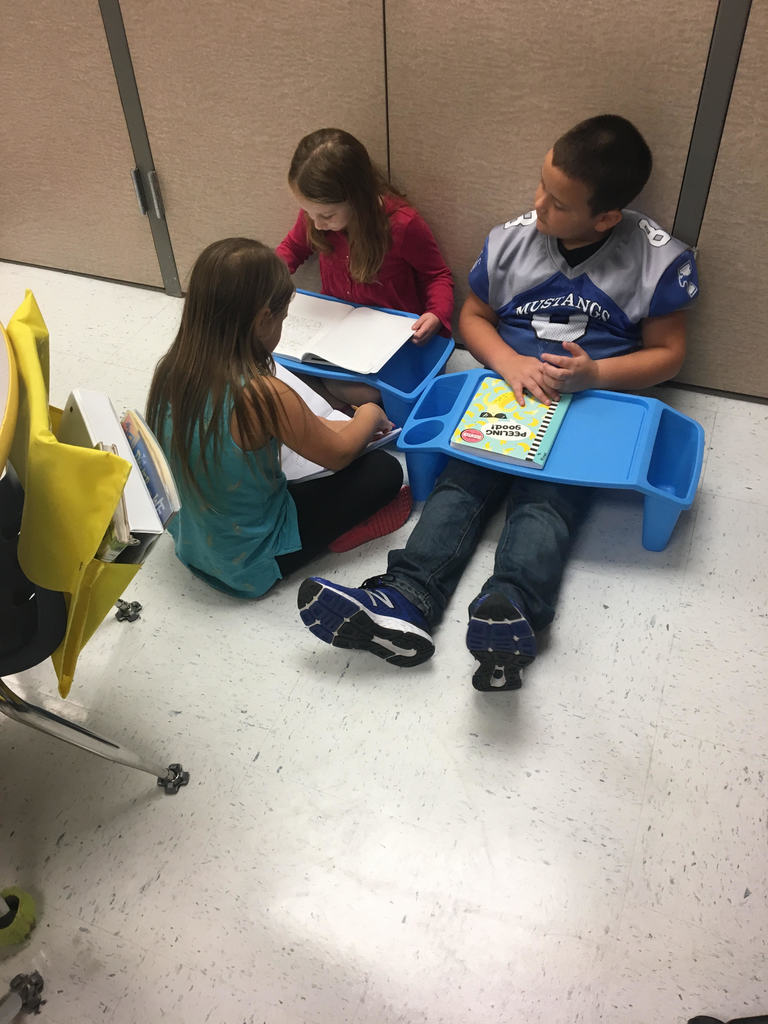 Mrs. Gilkerson's class working together to add detail to their personal narratives
