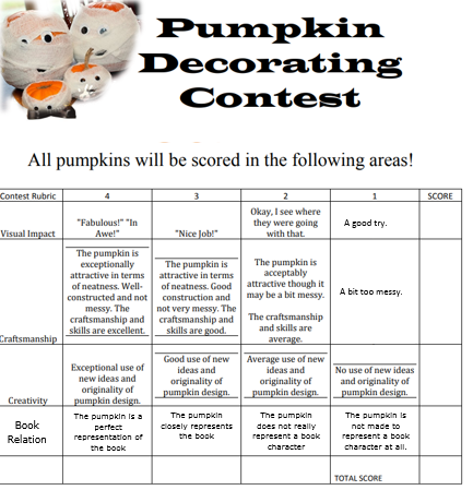pumpkin rubric