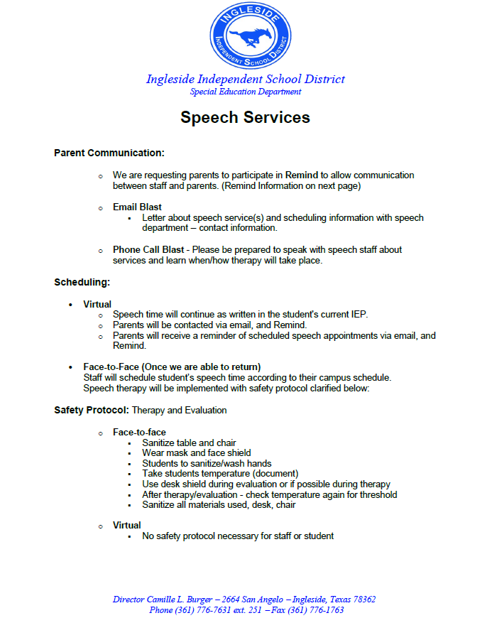 Speech Information